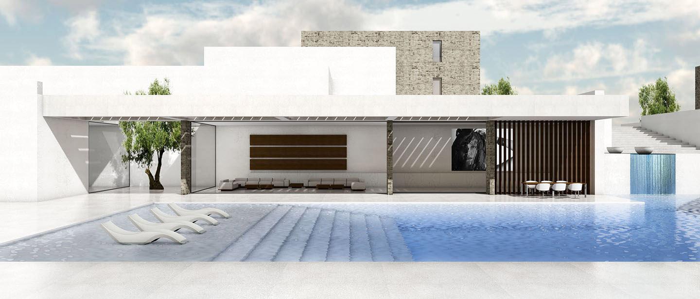 luxury villa in Mykonos Agios Stephanos by ikies architects
