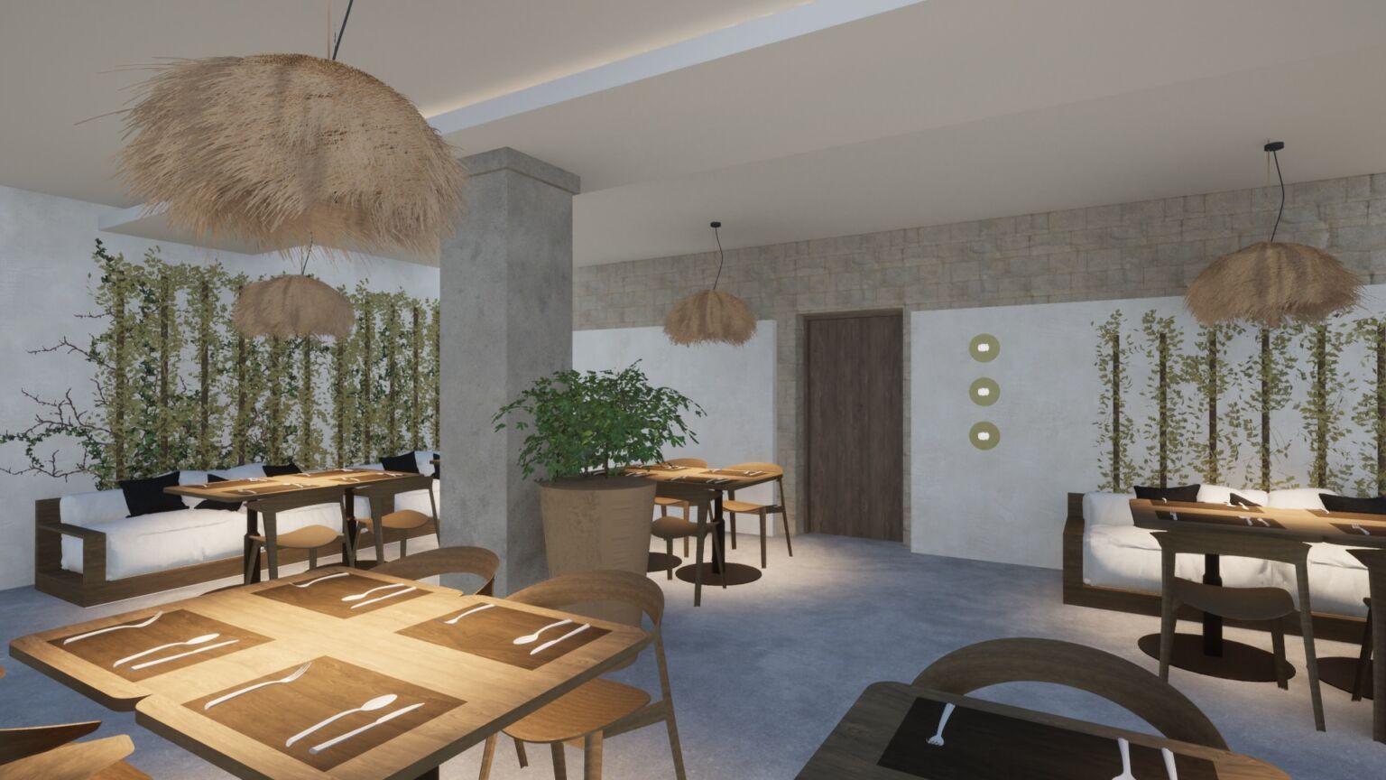 remodel of ipsos di mare hotel restaurant in ipsos corfu